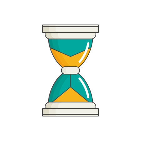 Vector Hourglass in flat style vector Illustration