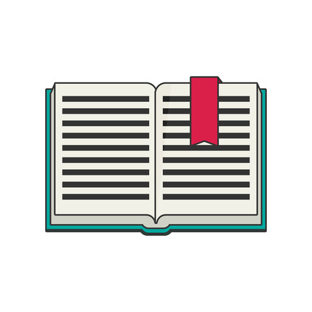 open magazine: Vector book icon flat