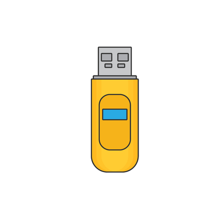 USB flash drive. Flat icon