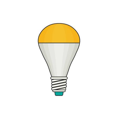 LED lamp. Vector flat illustration