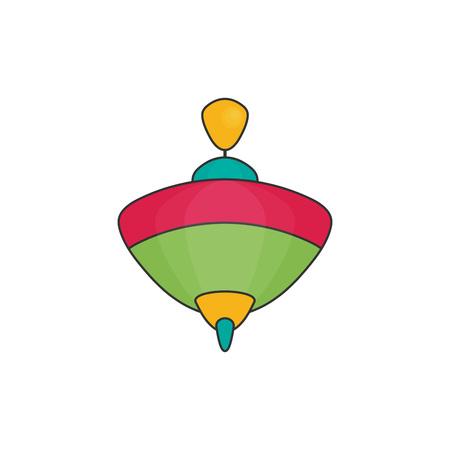 Toy icon flat vector. Whirligig Illustration