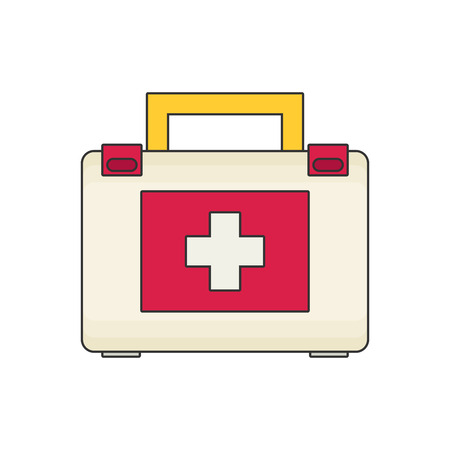 medicine chest: Medicine chest flat vector Illustration