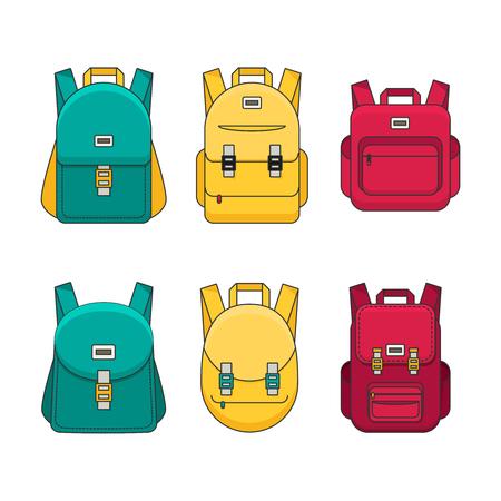 labelling: Schoolbag flat illustration. Bag for school.