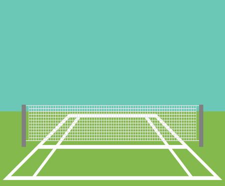 Contexte du court de tennis.