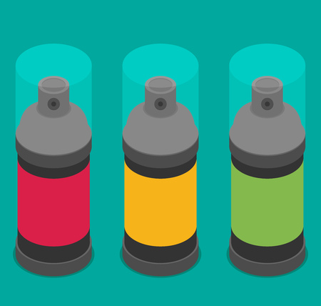 Spray Paint Can .Vector Flat Icon Illustration