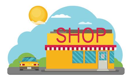 Vector Shop or Store Building Illustration