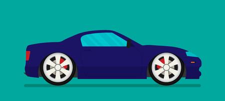 automobile door: Flat racing car vector. Eps 10