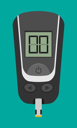 Domowy glukometr wektora płaskiego Ilustracje wektorowe