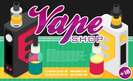 Vape vector illustration. Banner for web or print.