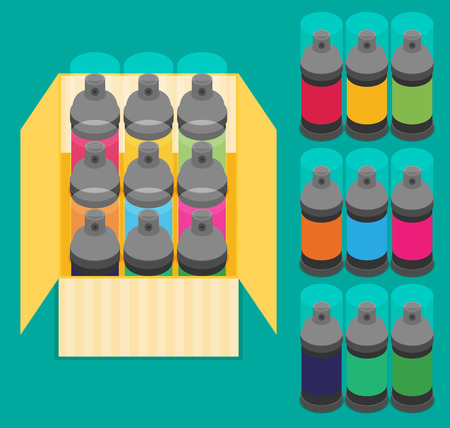 paint can: Spray Paint Can .Vector Flat Icon Illustration