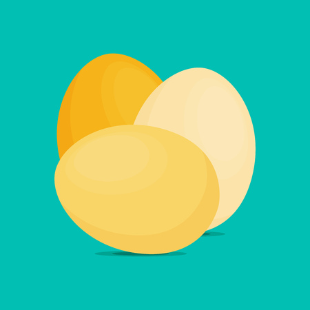 Eggs flat icon, chicken egg breakfast, vector illustration Illustration