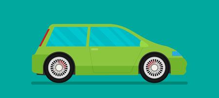 Flat racing car vector. Eps 10