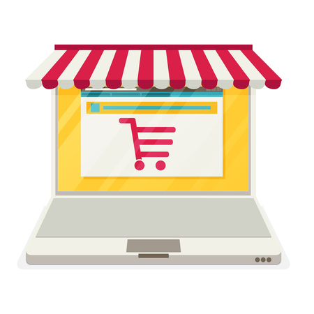 carport: On line store. Sale, Laptop