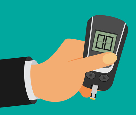 Home glucometer flat vector