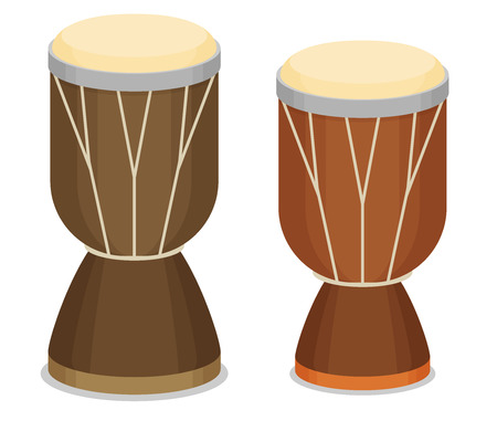 Vector illustration of African djembe drum