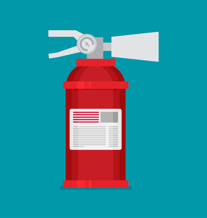 Flat vector fire extinguisher icon