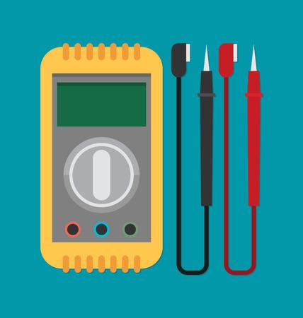 flat vector voltmeter icon Stock Illustratie