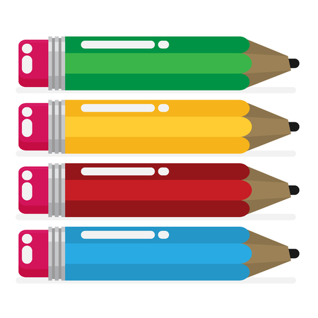 Vector color pencil in a flat style