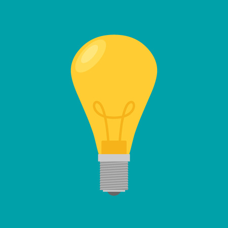 Lightbulb. Isolated icon pictogram. Eps 10 vector illustration.