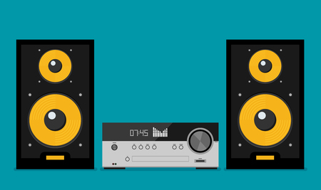 Home stereo flat vector music systems Illustration