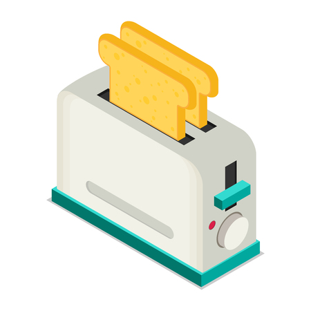 Toaster flat vector icon
