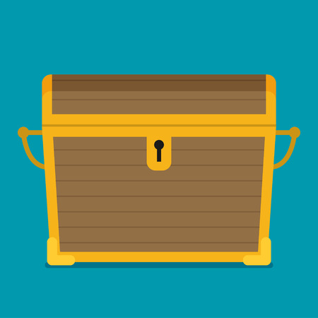 Flat illustration of chest vector icon Illustration