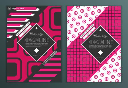 Moderne Vector abstract brochure, un rapport ou un modèle de conception flyer