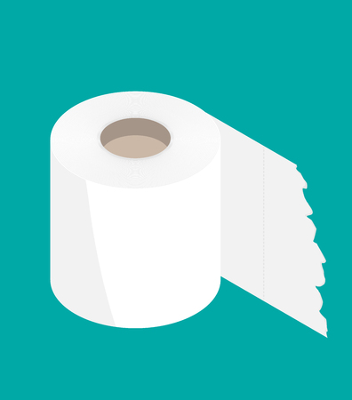 Toilet paper flat icon. Modern flat icon vector
