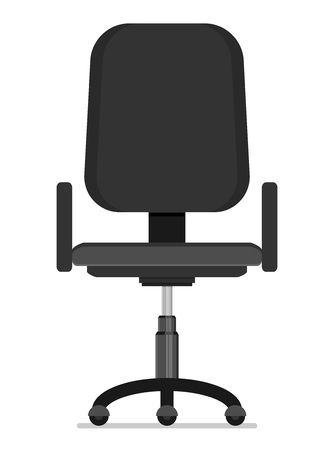 working: Office chair flat vector