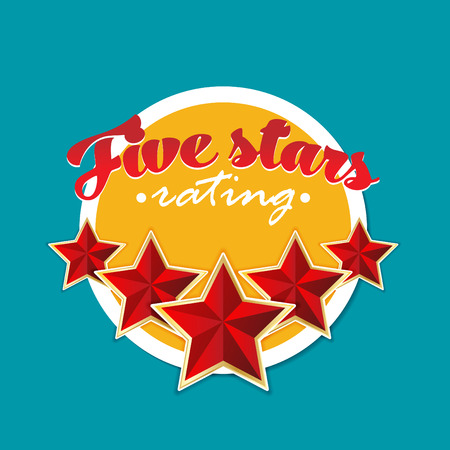 Five stars rating. Vector. Illustration