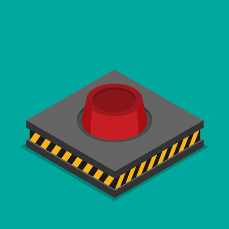 Launch button icon. Vector illustration.