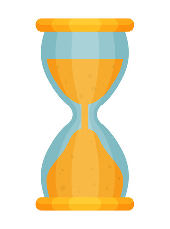 Hourglass countdown flat vector illustration isolate on a white background