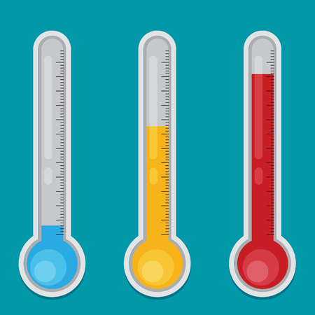 Vector Thermometer Flat Icon
