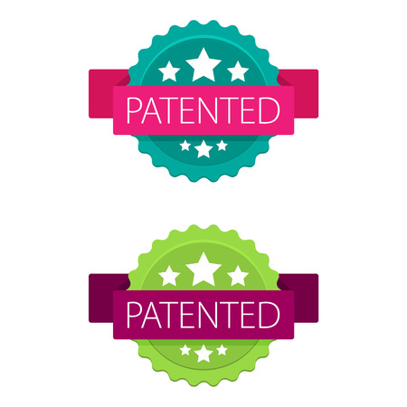 Patented stamp vector label Illustration