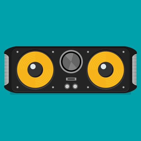 Flat vector bluetooth speakers Illustration
