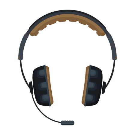 Flat vector headphones icon.