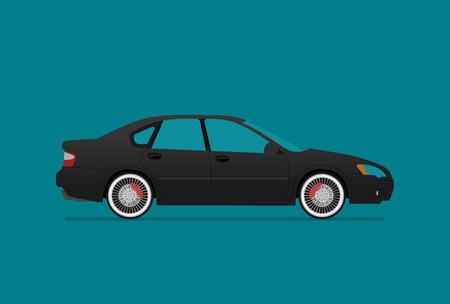 Rennwagen icon flache Illustration Standard-Bild - 98464068