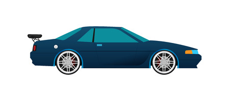 Flat racing car vector.