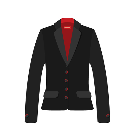 Women jacket flat vector.