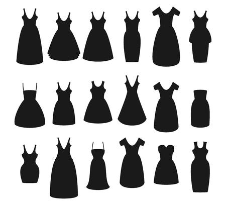 Flat vector set of dress.