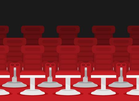 Cinema chairs. Vector illustration.