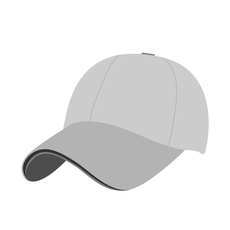 Baseball cap icon. flat vector illustration isolate on a white background