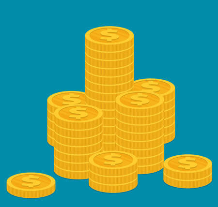 Coins icon. Vector illustration