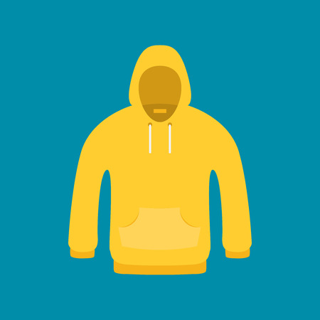 Flat Icon Hoodie Element. Vector Illustration