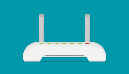 router flat vector icon Illustration