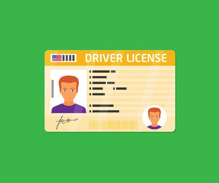 Identificazione della patente di guida con foto isolata