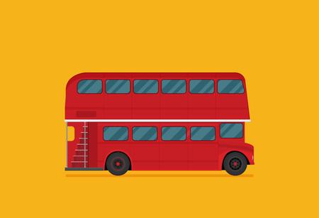 Una ilustración vectorial de un autobús londinense rojo Ilustración de vector