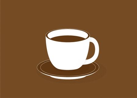 Tasse de café, illustration vectorielle.