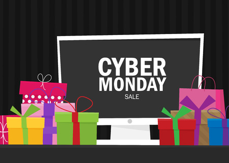Cyber Monday background design. EPS 10 vector illustration