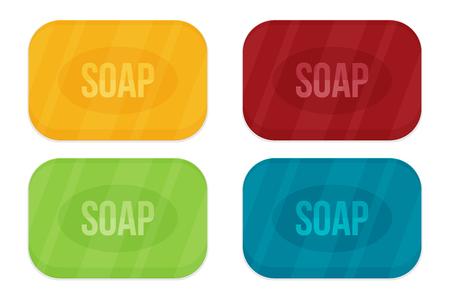 Vector cartoon flat style rectangular soap vector icon
